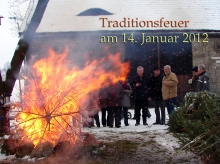 Traditionsfeuer am 14. Januar 2012 an der Grafenscheune