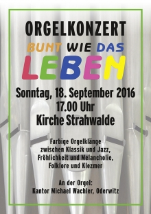 Orgelkonzert am 18. September 2016